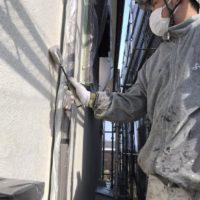 外壁下塗り工程
