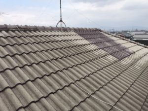 大屋根高圧洗浄後