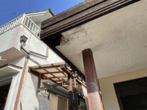 玄関ポーチ修理工事