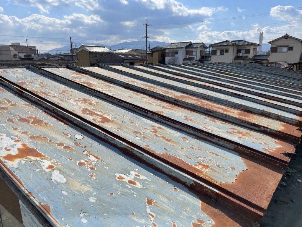 鉄板屋根サビ1